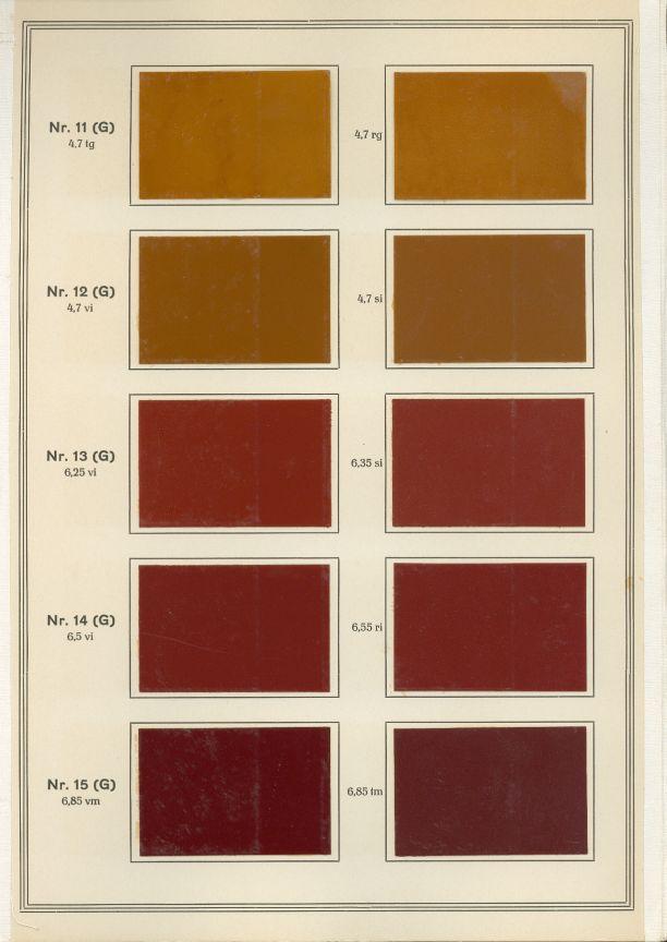 Erste RAL Farbkarte 1927